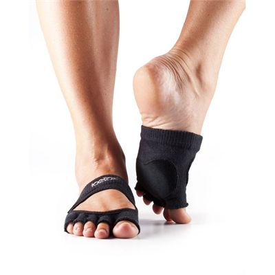 ToeSox Half Toe Releve Dance Grip Socks-Black