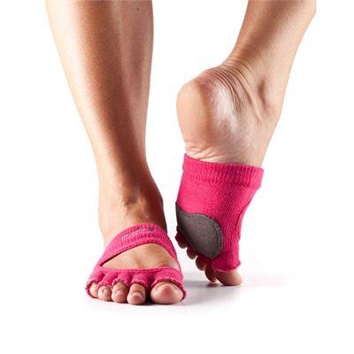 ToeSox Half Toe Releve Dance Grip Socks-Pink