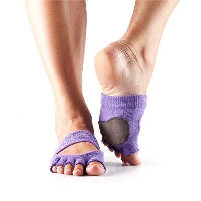 ToeSox Half Toe Releve Dance Grip Socks-Purple