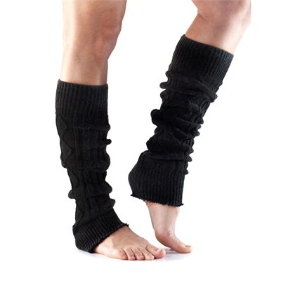 ToeSox Knee High Leg Warmers-Black-One Size