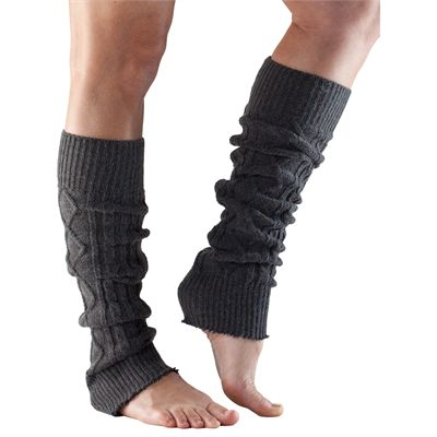 ToeSox Knee High Leg Warmers-Grey-One Size