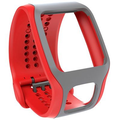 TomTom Cardio Comfort Strap - Red and Grey
