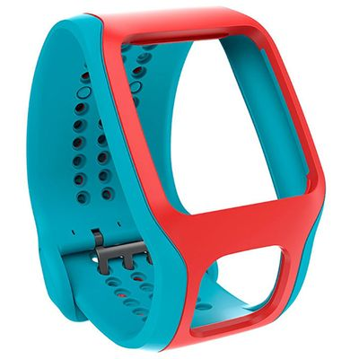 TomTom Cardio Comfort Strap - Turquoise and Red