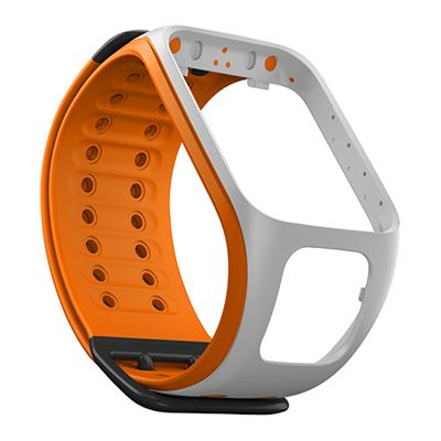 TomTom Large Watch Strap-Light Grey-Orange