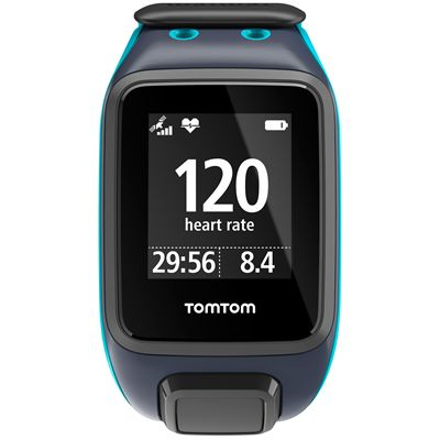 TomTom Runner 2 Cardio Large Heart Rate Monitor-Blue-Image 2