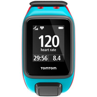 TomTom Runner 2 Cardio Large Heart Rate Monitor-Blue and Red-Image 2