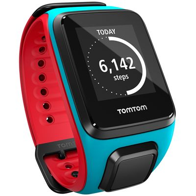 TomTom Runner 2 Cardio Large Heart Rate Monitor-Blue and Red-Image 7