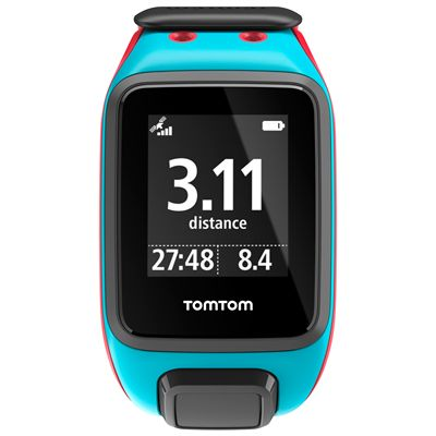 TomTom Runner 2 Cardio Large Heart Rate Monitor-Blue and Red