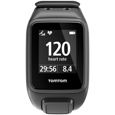 TomTom Runner 2 Cardio Music Large Heart Rate Monitor-Scuba Black-Image 1