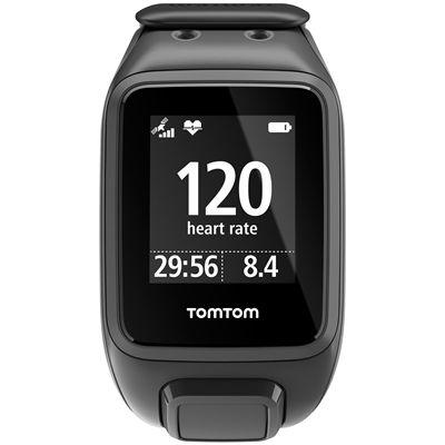 TomTom Runner 2 Cardio Music Large Heart Rate Monitor-Scuba Black-Image 1