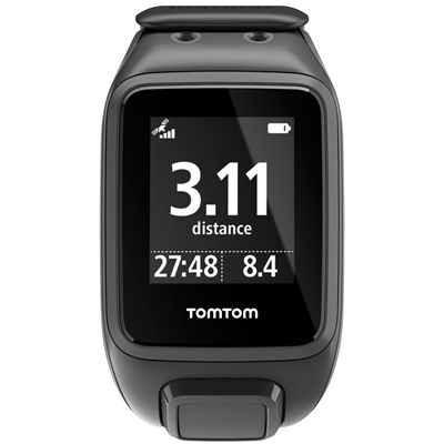 TomTom Runner 2 Cardio Music Large Heart Rate Monitor-Scuba Black-Image 2