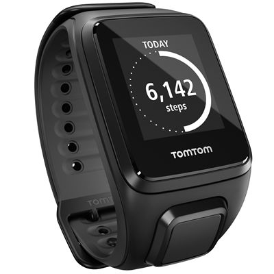 TomTom Runner 2 Cardio Music Large Heart Rate Monitor-Scuba Black-Image 8