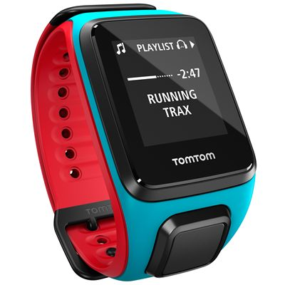 TomTom Runner 2 Cardio Music Large Heart Rate Monitor-Scuba Blue and Red-Image 12