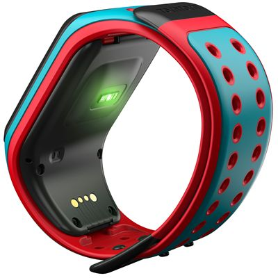 TomTom Runner 2 Cardio Music Large Heart Rate Monitor-Scuba Blue and Red-Image 4