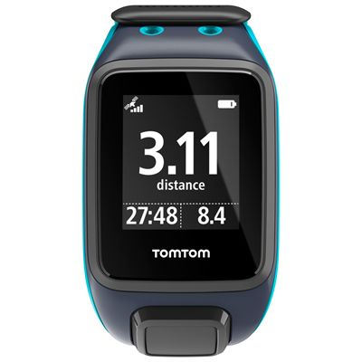 TomTom Runner 2 Cardio Music Large Heart Rate Monitor-Sky Captain Blue-Image 2