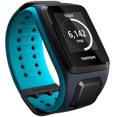 TomTom Runner 2 Cardio Music Large Heart Rate Monitor-Sky Captain Blue-Image 4
