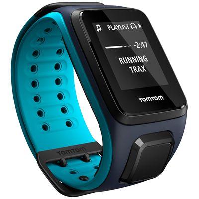 TomTom Runner 2 Cardio Music Large Heart Rate Monitor-Sky Captain Blue-Image 7