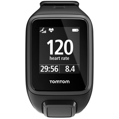 TomTom Runner 2 Cardio Music Small Heart Rate Monitor-Black-Front Cardio