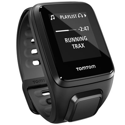 TomTom Runner 2 Cardio Music Small Heart Rate Monitor-Black-Right Music