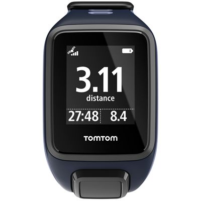 TomTom Runner 2 Cardio Music Small Heart Rate Monitor-Purple and Blue-Front Distance