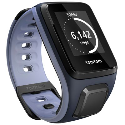 TomTom Runner 2 Cardio Music Small Heart Rate Monitor-Purple and Blue-Right Activity