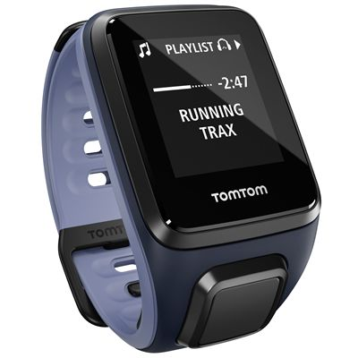 TomTom Runner 2 Cardio Music Small Heart Rate Monitor-Purple and Blue-Right Music