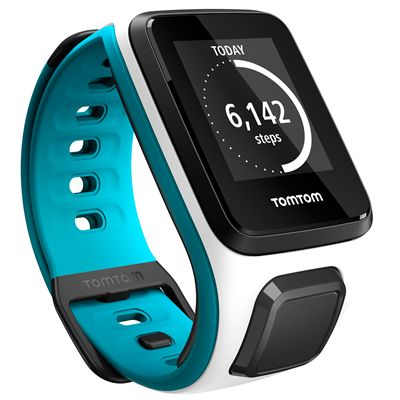 TomTom Runner 2 Cardio Music Small Heart Rate Monitor-White and blue-Right Activity View