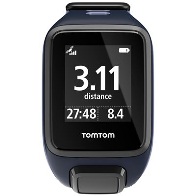TomTom Runner 2 Cardio Small Heart Rate Monitor-Blue and Purple-Image 1