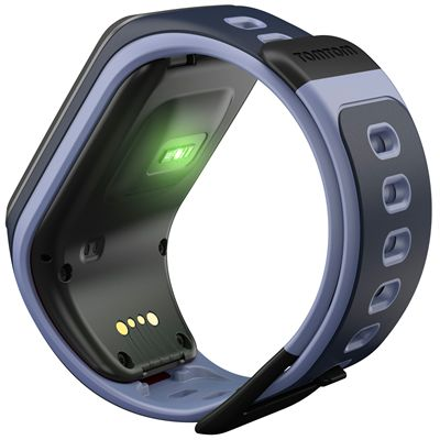 TomTom Runner 2 Cardio Small Heart Rate Monitor-Blue and Purple Image