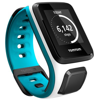 TomTom Runner 2 Cardio Small Heart Rate Monitor-White and Blue-Image 14
