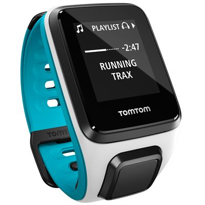 TomTom Runner 2 Cardio Small Heart Rate Monitor-White and Blue-Image 7