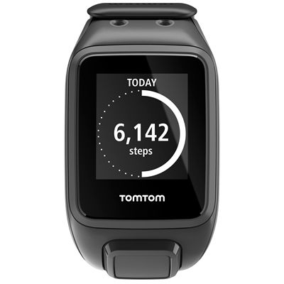 TomTom Runner 2 Large GPS Sports Watch-Scuba Black-Front Activity