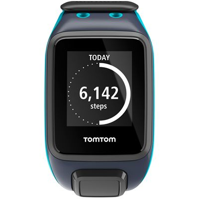 TomTom Runner 2 Large GPS Sports Watch-Scuba Blue-Front Activity