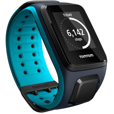 TomTom Runner 2 Large GPS Sports Watch-Scuba Blue-Right Activity