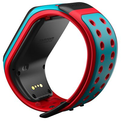 TomTom Runner 2 Large GPS Sports Watch-Scuba Blue and Red-Back