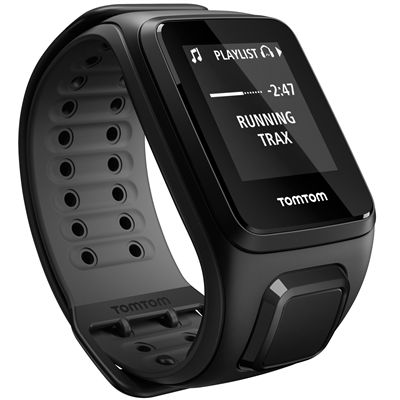 TomTom Runner 2 Music Large GPS Sports Watch-Scuba Black-Right Music