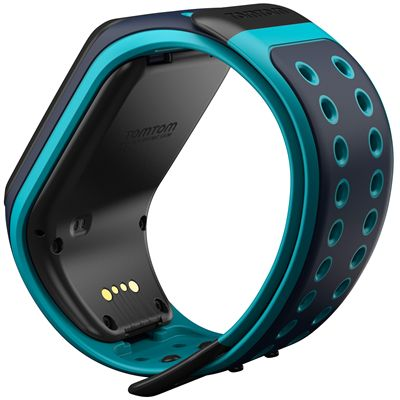 TomTom Runner 2 Music Large GPS Sports Watch-Scuba Blue-Back