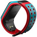 TomTom Runner 2 Music Large GPS Sports Watch-Scuba Blue and Red-Back