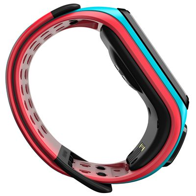 TomTom Runner 2 Music Large GPS Sports Watch-Scuba Blue and Red-Side