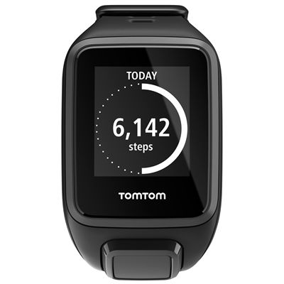 TomTom Runner 2 Music Small GPS Sports Watch-Black-Front Activity