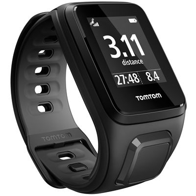 TomTom Runner 2 Music Small GPS Sports Watch-Black-Right Distance