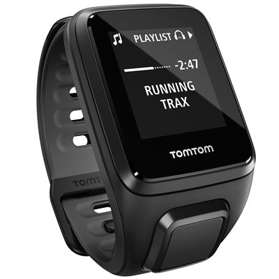 TomTom Runner 2 Music Small GPS Sports Watch-Black-Right Music