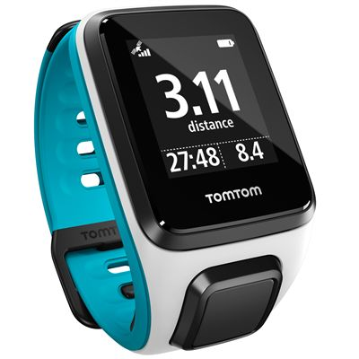 TomTom Runner 2 Music Small GPS Sports Watch-Blue-Right Distance