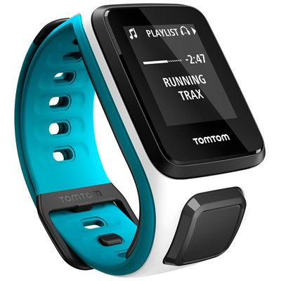 TomTom Runner 2 Music Small GPS Sports Watch-Blue-Right Music