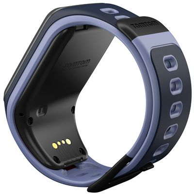 TomTom Runner 2 Music Small GPS Sports Watch-Blue and Purple-Back