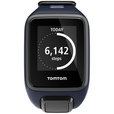 TomTom Runner 2 Music Small GPS Sports Watch-Blue and Purple-Front Activity