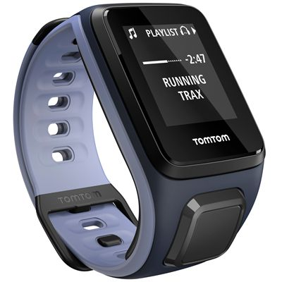 TomTom Runner 2 Music Small GPS Sports Watch-Blue and Purple-Right Music