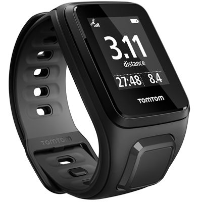 TomTom Runner 2 Small GPS Sports Watch-Black-Right Distance