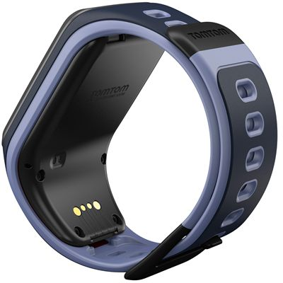 TomTom Runner 2 Small GPS Sports Watch-Sky Captain Blue and Purple-Back