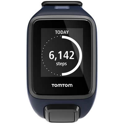 TomTom Runner 2 Small GPS Sports Watch-Sky Captain Blue and Purple-Front Activity